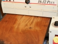 Flatten boards with drum sander