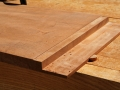 Create shallow groove for half-blind dovetails & remove material for lower side design