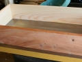 Layout drawer, sugar pine for sides and back, mahogany for front