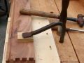 Chop, chop with front piece flat on work bench