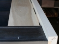 Marking mortises required for three stub dovetails on back boards