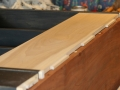 View of outer back board dovetail stubs