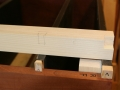 Marking right leg mortise