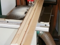 Fins tapered at band saw, using a sled to support at 45 degrees