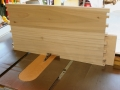 Cut bottom board notch for door stiles