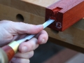 Padauk is much easier on the chisels