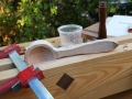 Moxon vise secures the work for more shaping