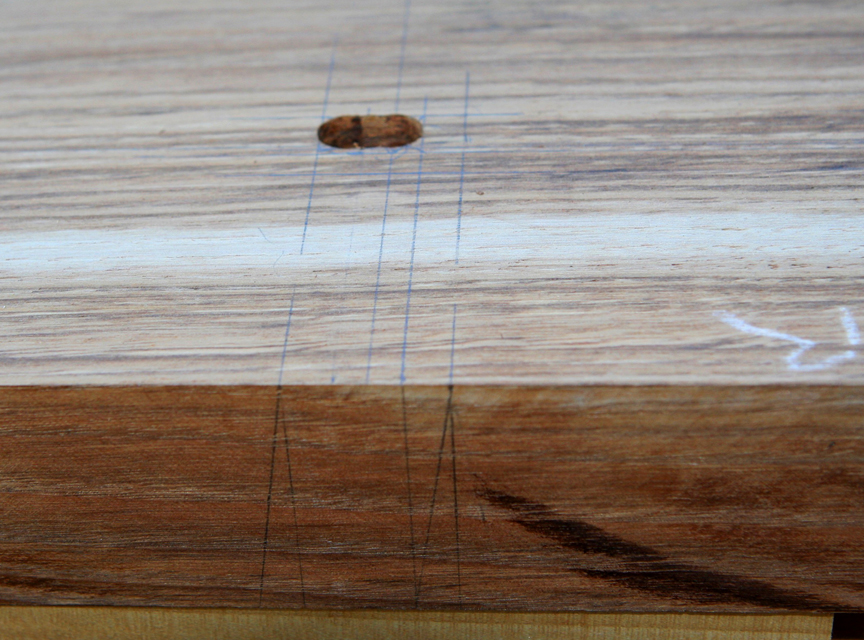 drill mortise waste