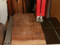 Band saw cleans up ragged edges
