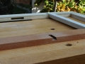 Drawer guides fit into upper web frame