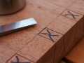 half blind dovetails for chopping