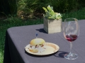 Chorizo slider paired with LaFond 2015 Pinot Noir