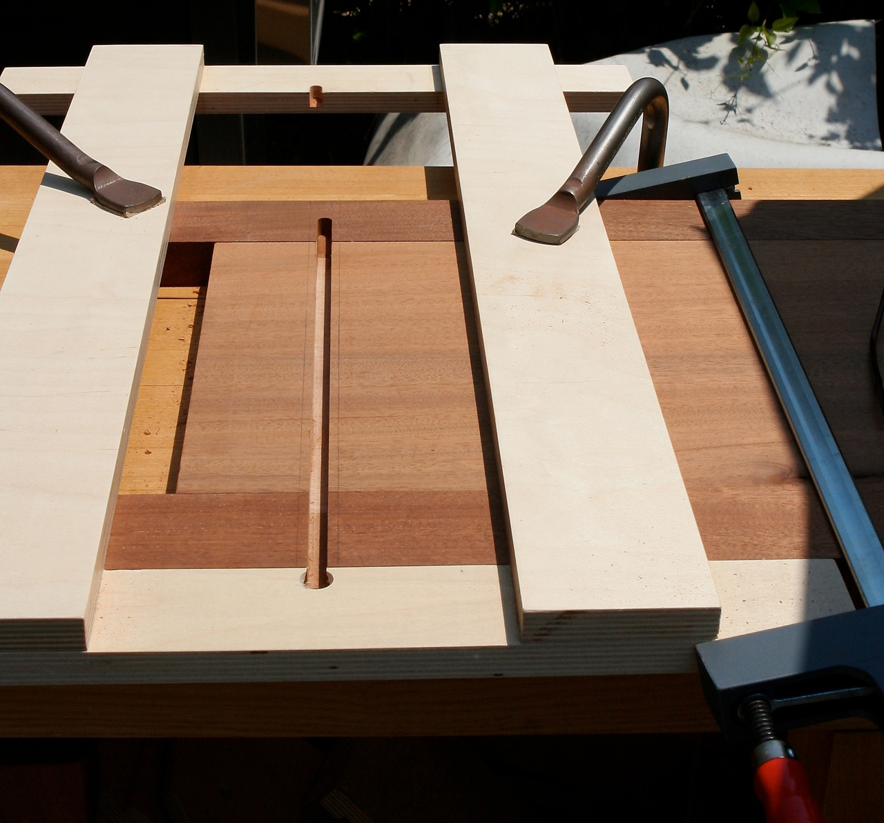 Sliding dovetail slot after routing