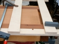 Align jig with position of case side sliding dovetails