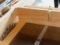 Tenon lengths cut