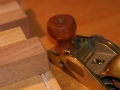 Bevels cut on leg bottoms with block plane