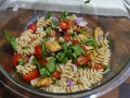 Summer Salad with whole grain rotini