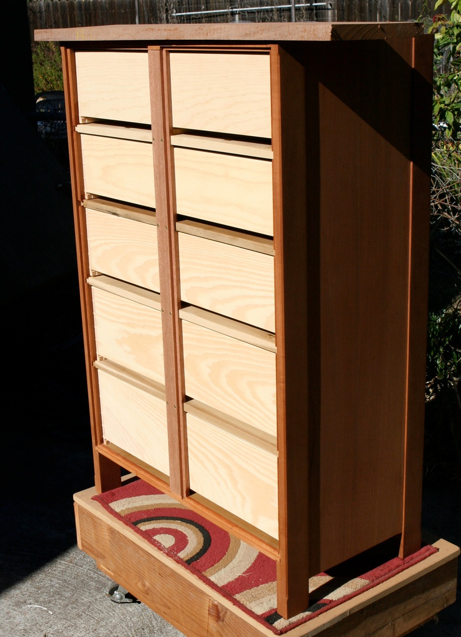 Drawers rear view