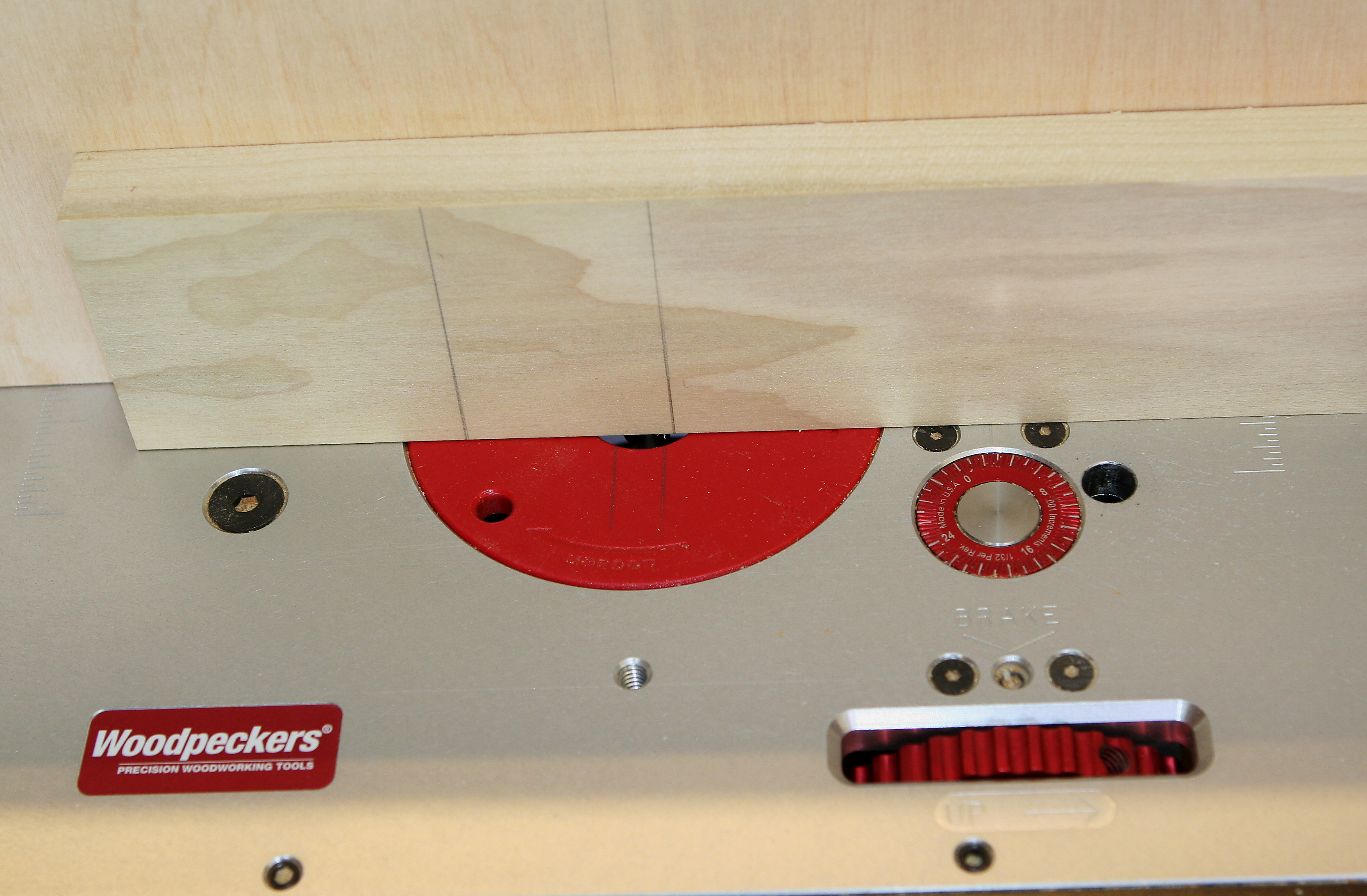 Mortises created at router table