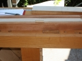 Mortises cut and squared off with chisel