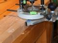 Routing floating tenon mortises in case side