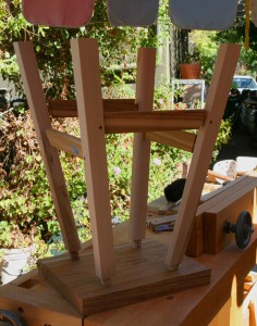 dry fit legs, stretchers and seat blank