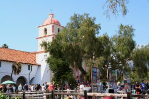 The Santa Barbara Mission, home to the I Madonnari Festival