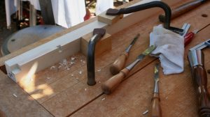 Chopping mortises