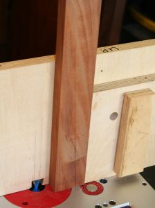 Routing sliding dovetail at end of long stile
